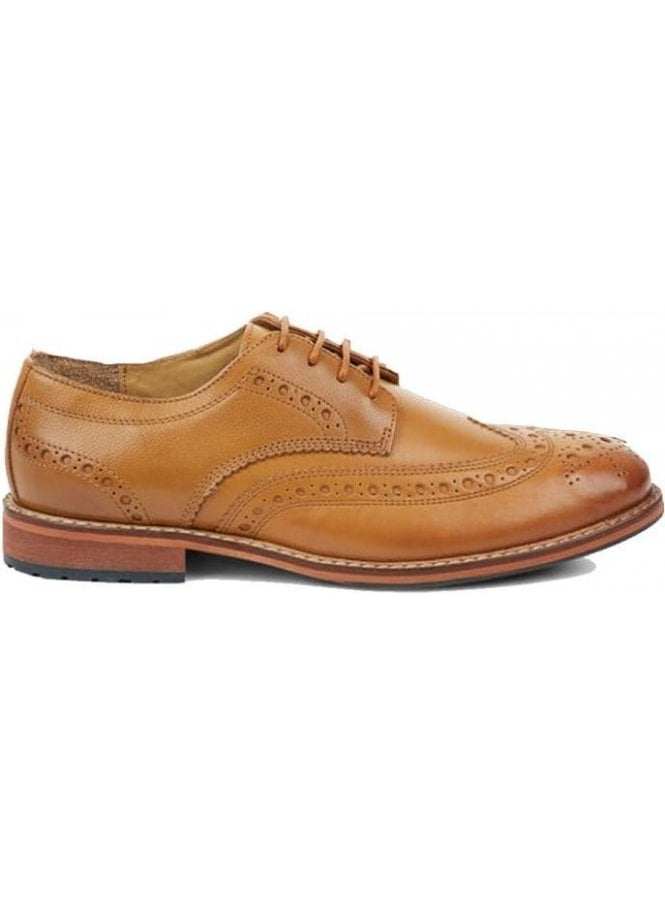 LYLE & SCOTT Clyde Leather Brogue Shoe Tan