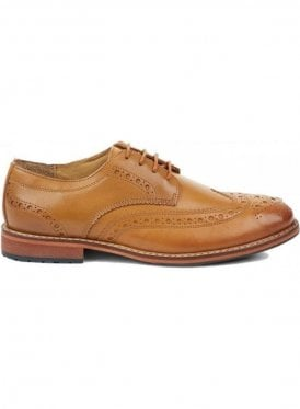 Clyde Leather Brogue Shoe Tan