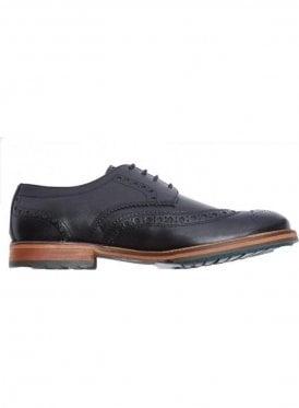 Clyde Leather Brogue Shoe True Black