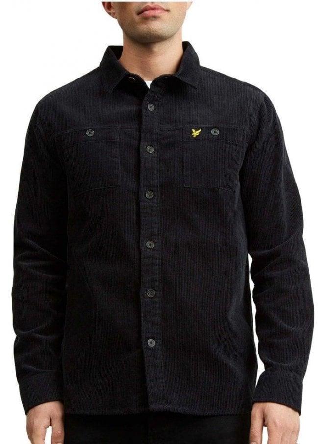 LYLE & SCOTT Cord Overshirt True Black