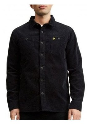 Cord Overshirt True Black