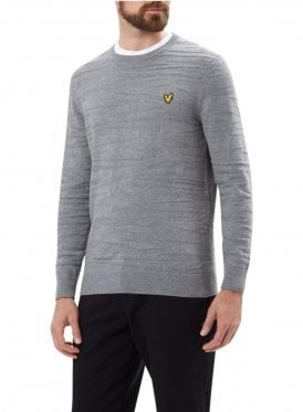 Crew Neck Dazzle Jumper Mid Grey Marl