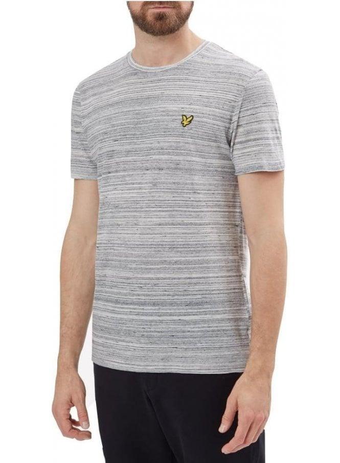 LYLE & SCOTT Crew Neck Space Dye Tshirt Mid Grey Marl