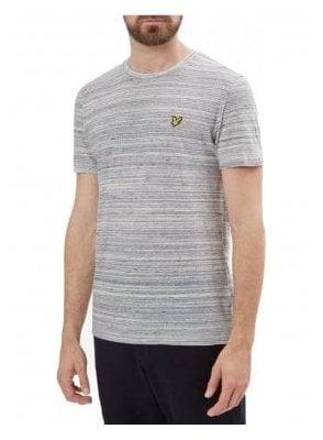 Crew Neck Space Dye Tshirt Mid Grey Marl