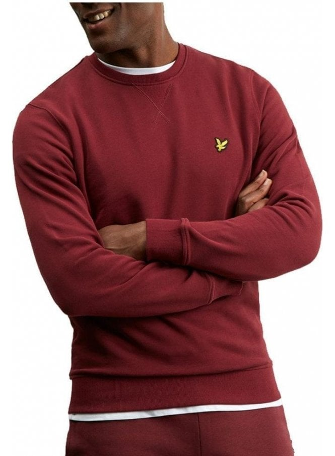 LYLE & SCOTT Crew Neck Sweat Shirt Claret Jug