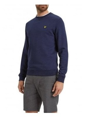 Crew Neck Sweat Shirt Navy