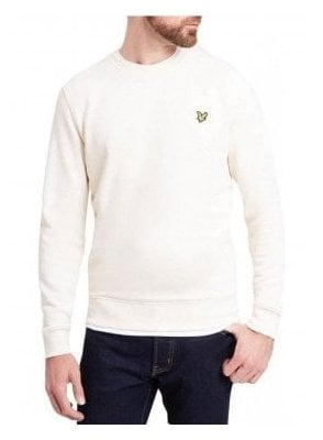 Crew Neck Sweat Shirt Seashell White