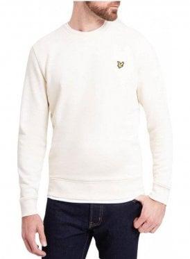 Crew Neck Sweat Shirt Seashell White