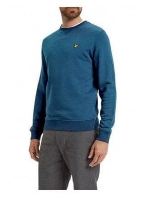 Crew Neck Sweatshirt Jumper Light Teal