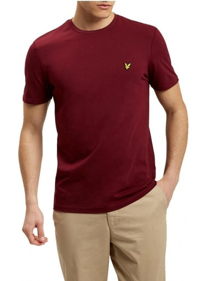 LYLE & SCOTT Crew Neck T-Shirt Claret Jug