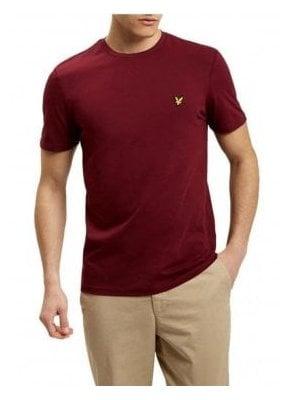 Crew Neck T-Shirt Claret Jug