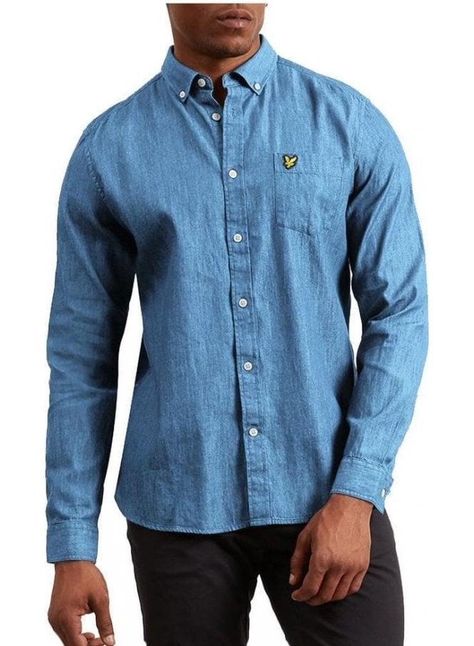 LYLE & SCOTT Denim Shirt Light Indigo