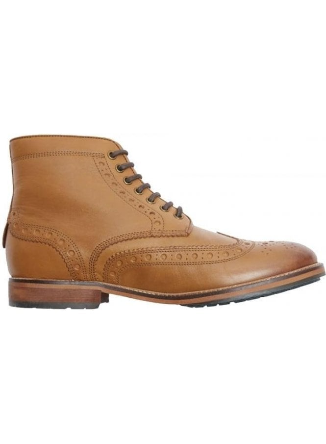 LYLE & SCOTT Deveron Leather Brogue Boot Tan
