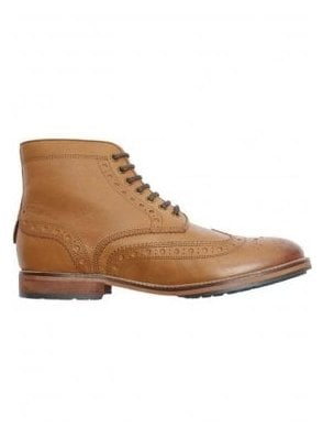 Deveron Leather Brogue Boot Tan