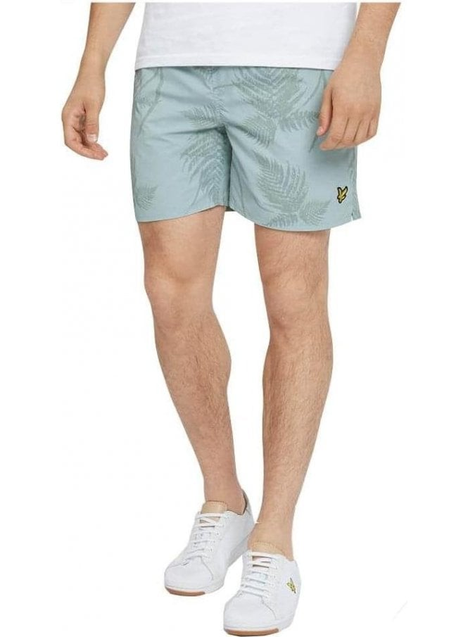 LYLE & SCOTT Fern Print Swim Shorts Powder Blue