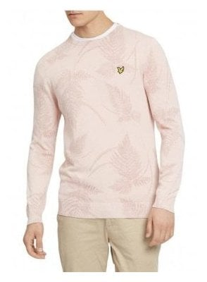 Lyle & Scott Fern Printed Jumper Dusky Pink