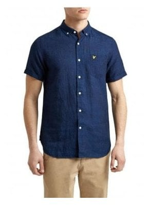 Indigo Short Sleeved Shirt Dark Indigo