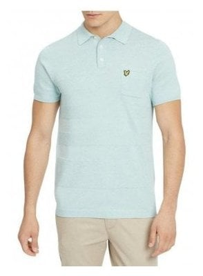 Knitted Textured Polo Powder Blue