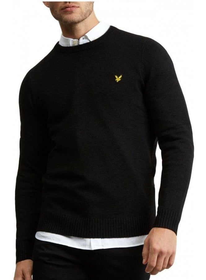 LYLE & SCOTT Lambswool Blend Jumper True Black