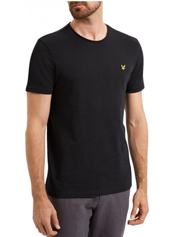LYLE & SCOTT Light Weight Slub Tshirt True Black