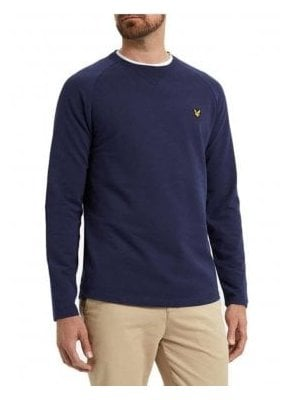 Lightweight Crew Neck Sweatshirt Navy