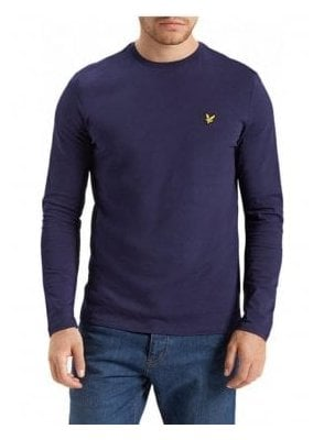 Long Sleeved Crew Neck Tshirt Navy