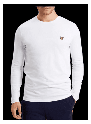 Long Sleeved Crew Neck Tshirt White