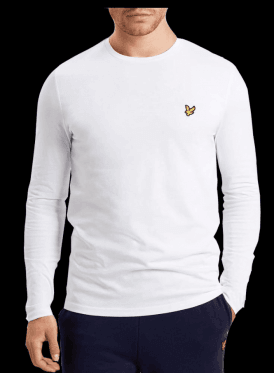 Long Sleeved Crew Neck Tshirt White
