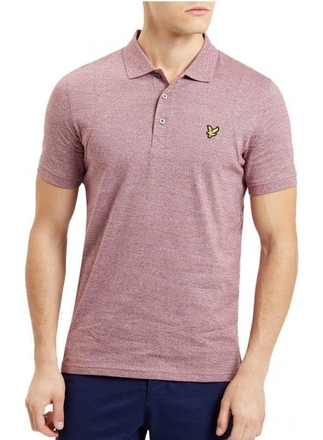 LYLE & SCOTT Mouline Polo Tshirt Claret Jug