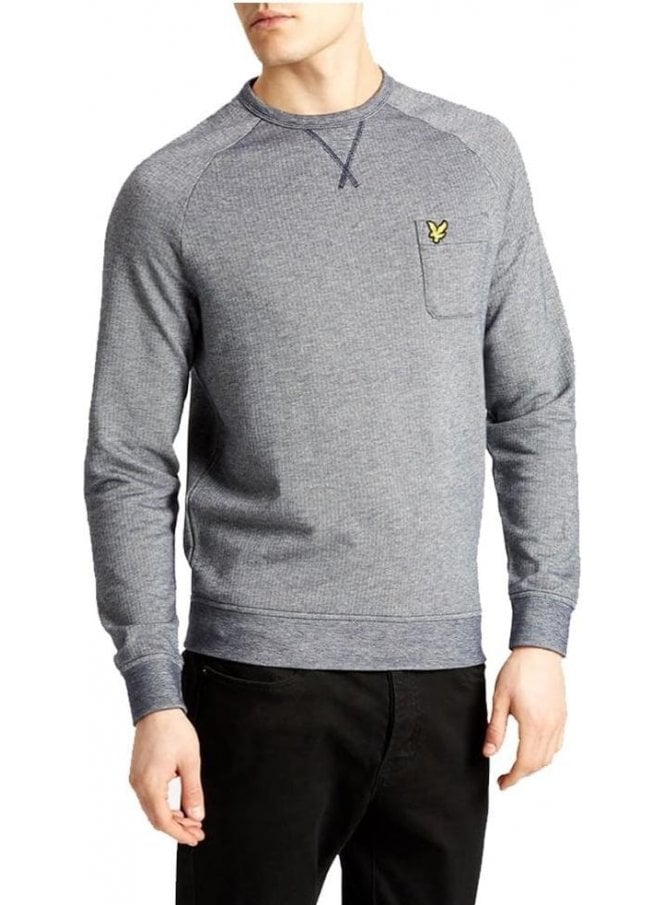 LYLE & SCOTT Oxford Crew Neck Sweatshirt Navy