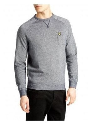 Oxford Crew Neck Sweatshirt Navy