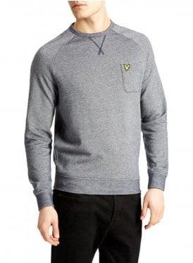 Oxford Crew Neck Sweatshirt Navy