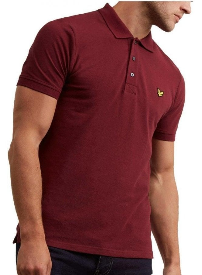 LYLE & SCOTT Polo Shirt Claret Jug