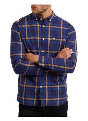 Poplin Check Shirt Duke Blue/Dark Navy