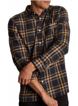 Poplin Check Shirt True Black/Urban Grey