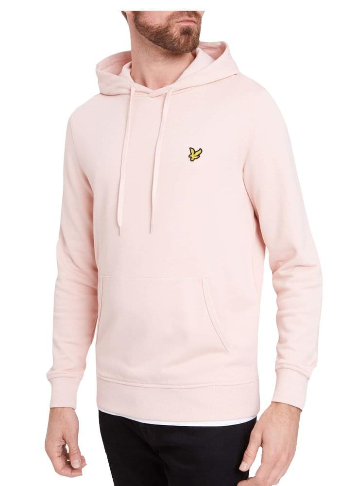 Pink Lyle /& Scott Men/'s Pullover Hoodie