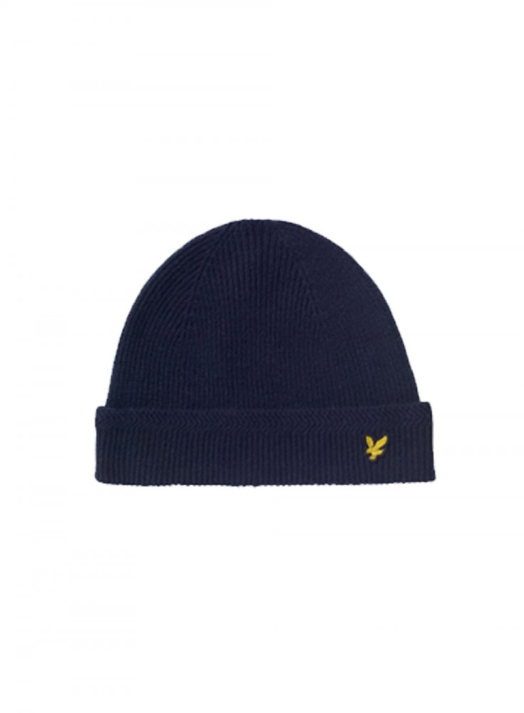 981f3f4aa Racked Rib Beanie Knitted Hat Navy