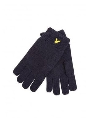 Racked Rib Gloves Navy