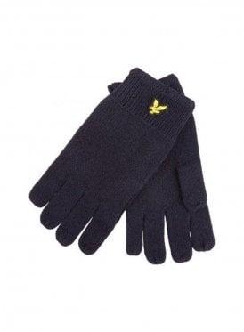 Racked Rib Gloves Navy