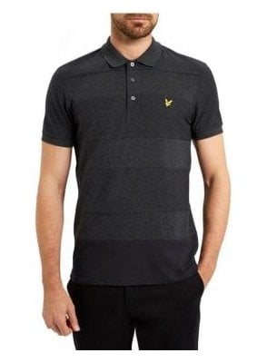 Reverse Stripe Polo Shirt Charcoal