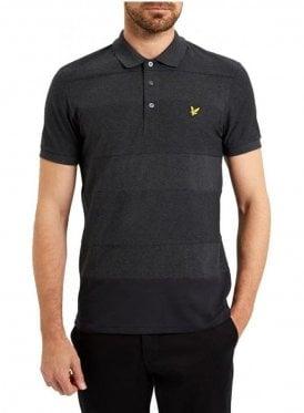 Reverse Stripe Polo Shirt Charcoal