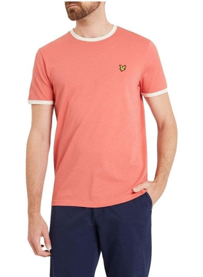 LYLE & SCOTT Ringer Tshirt Sunset Pink