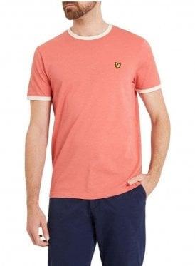 Ringer Tshirt Sunset Pink