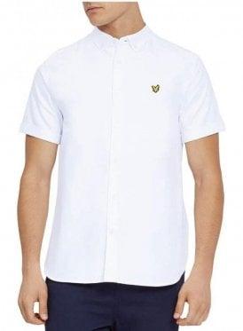 Lyle & Scott short sleeve Oxford Shirt White