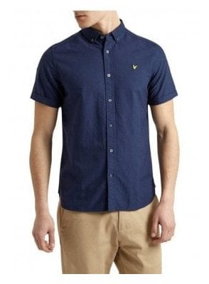 Short Sleeved Oxford Shirt Navy