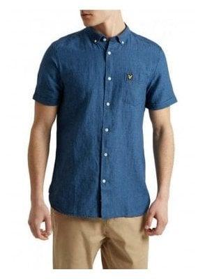 Short Sleeved Shirt Light Indigo