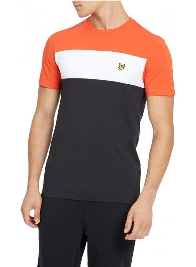 LYLE & SCOTT Slim Fit Block Stripe Tshirt True Black