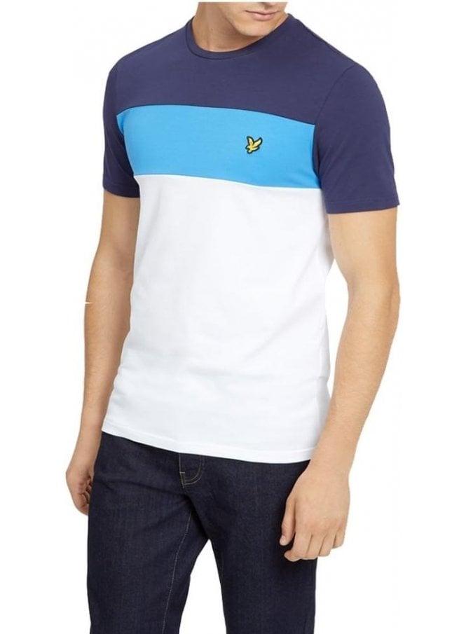 LYLE & SCOTT Slim Fit Block Stripe Tshirt White