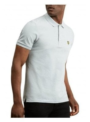 Slim Stretch Polo Shirt Grey Blue
