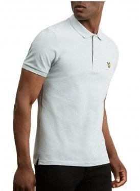 Slim Stretch Polo Shirt Grey Blue
